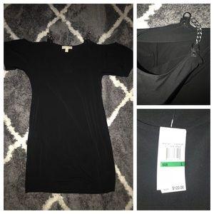 NWT Michael Kors black Mini open shoulder dress